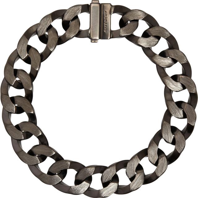 Givenchy Ruthenium Brushed Large Chain
