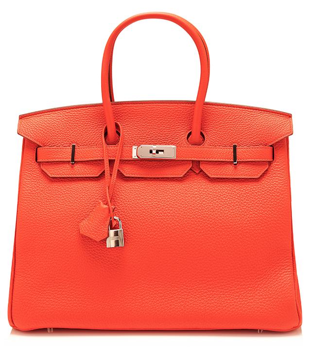 Hermes Clemence Capucine Leather Birkin Bag