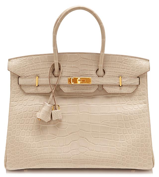 Hermes Matte Beton Alligator Birkin Bag