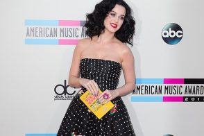Katy Perry Carries Olympia Le-Tan to the American Music Awards