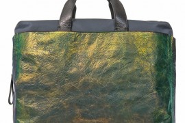 Lanvin Iridescent Leather Commuting Bag