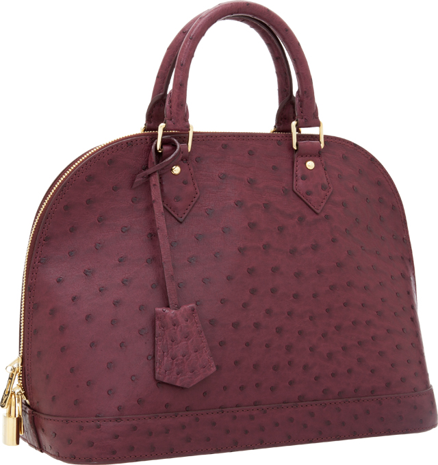 Louis Vuitton Ostrich Alma Bag
