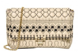RED Valentino Embroidered Quilted Shoulder Bag
