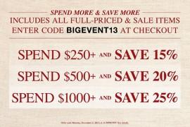 ShopBop Coupon Code Black Friday 2013