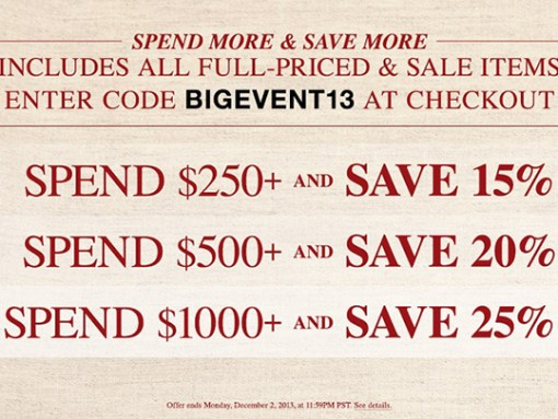 ShopBop Coupon Code Black Friday 2013