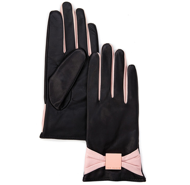Ted Baker Bowe Bow Leather Gloves