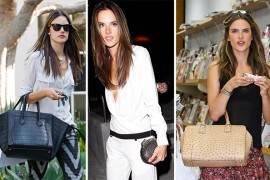 The Many Bags of Alessandra Ambrosio