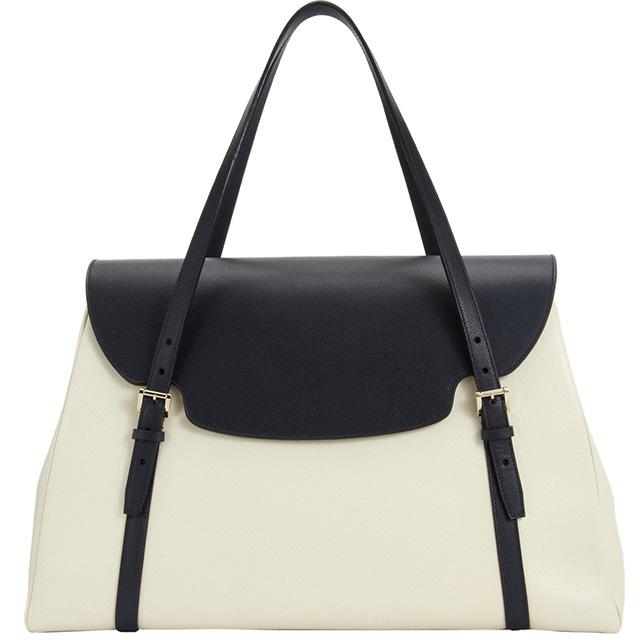 Valextra Front Flap Shoulder Bag