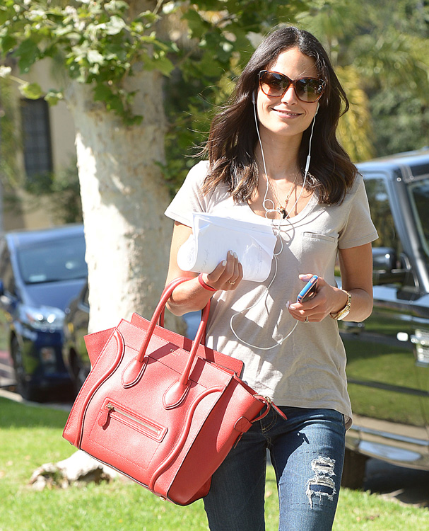 Celebs and Celine Luggage Totes 14