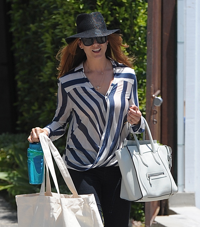 Celebs and Celine Luggage Totes 16