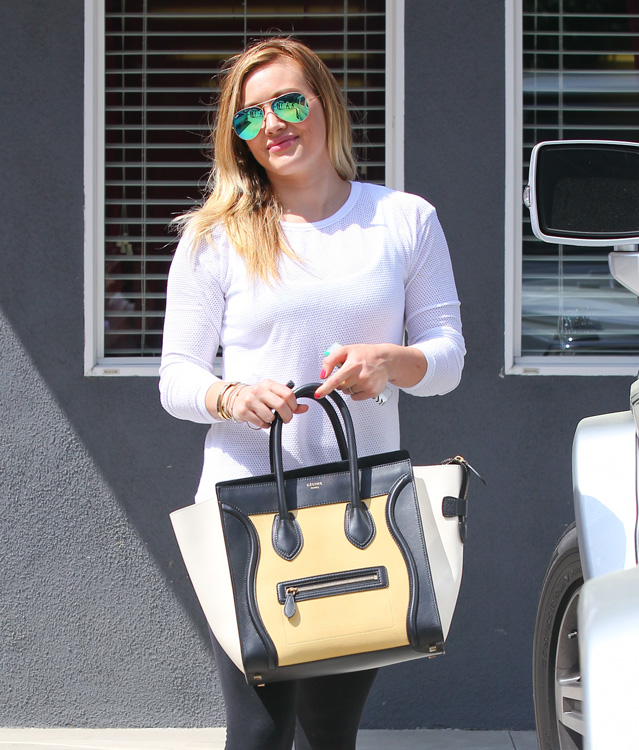 Celebs and Celine Luggage Totes 9