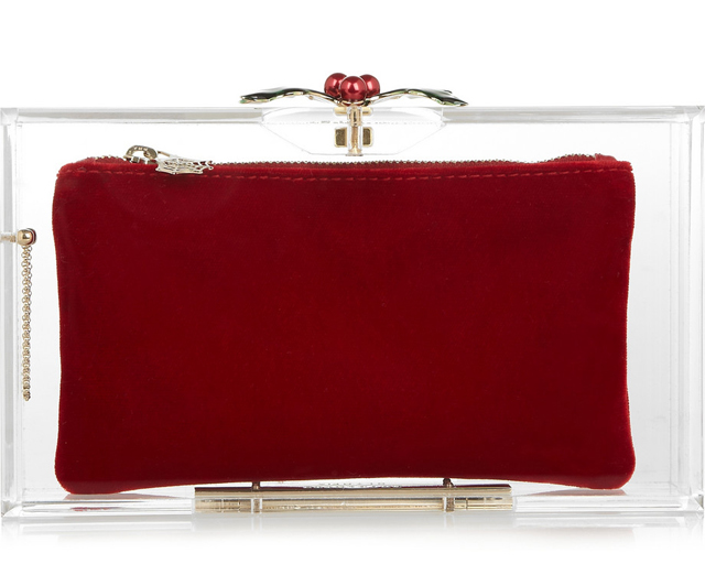 Charlotte Olympia Holly Pandora Perspex Clutch