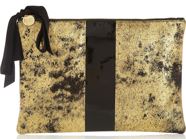 Clare Vivier Flat Printed Nubuck Clutch