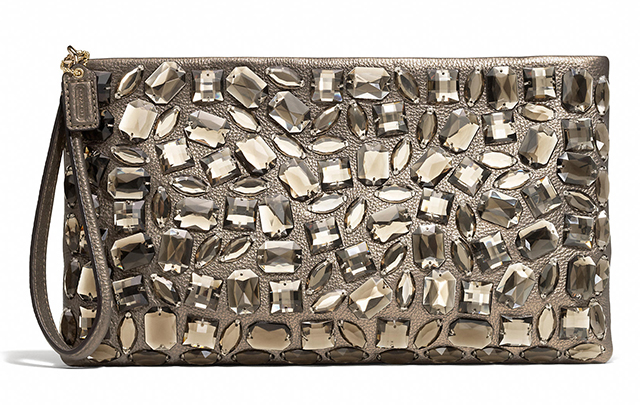Coach Jeweled Madison Zip Clutch