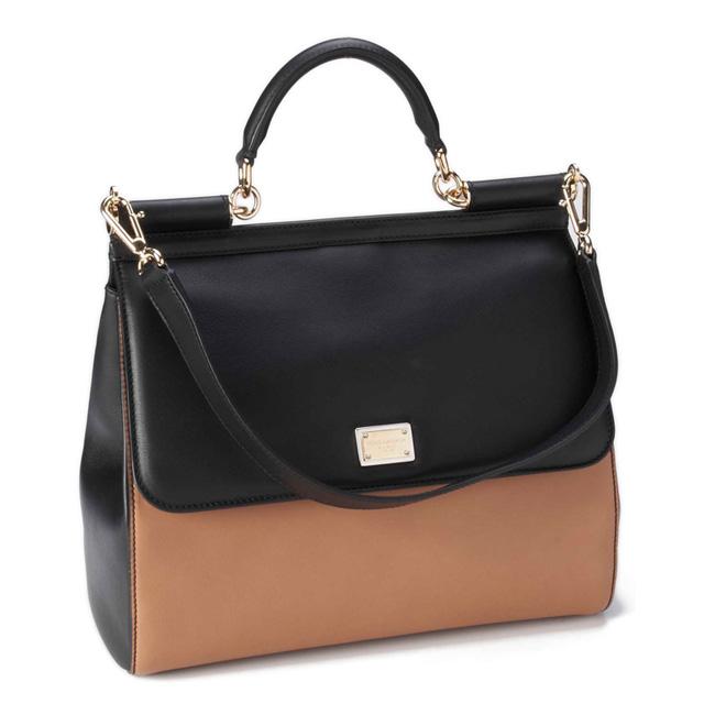 Dolce&Gabbana 'Miss Sicily - Bi-Color' Top Handle Leather Satchel