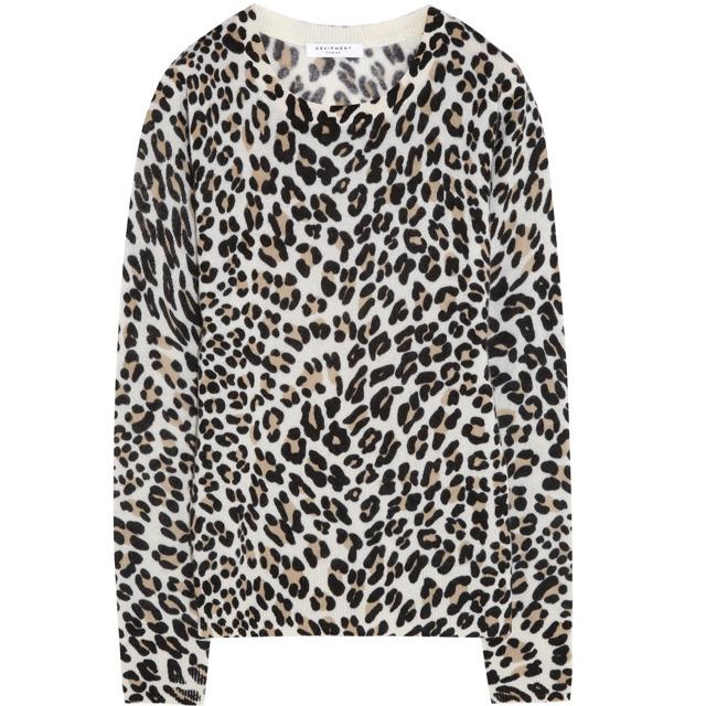 EQUIPMENT Shane leopard-print cashmere sweater