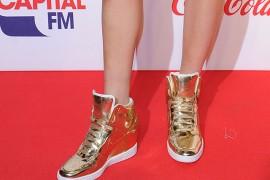Ellie-Goulding-Nike-Dunk-Sky-Hi-Liquid-Metal-Sneakers