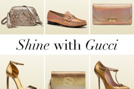 Gucci Metallic Handbags and Shoes copy