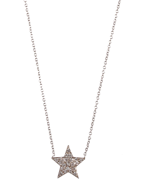 Jennifer Meyer White Gold and Diamond Star Pendant