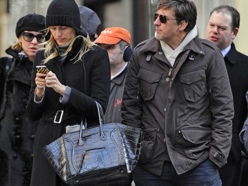 Karolina Kurkova carries a black Celine bag in NYC (1)