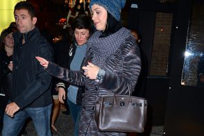 Katy Perry Carries an Hermes Birkin to Dinner