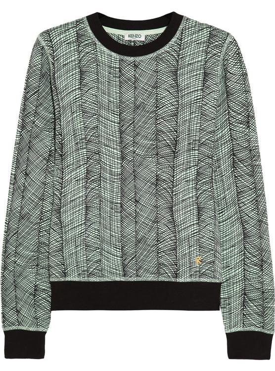 Kenzo Printed Cotton Jersey Sweatshirt