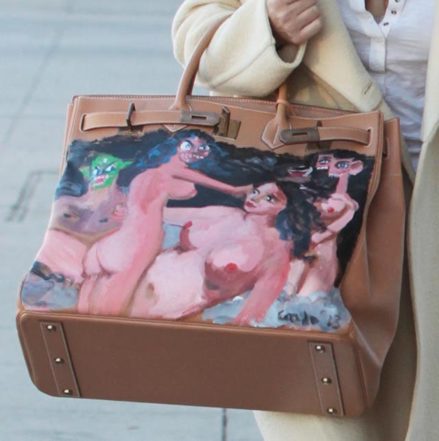 Kim Kardashian Painted Hermes Bag 1