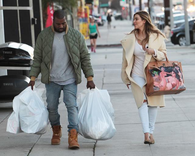 Kim Kardashian Painted Hermes Bag 2