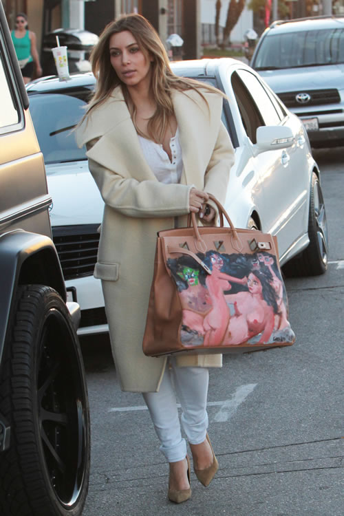 Kim Kardashian Painted Hermes Bag 4