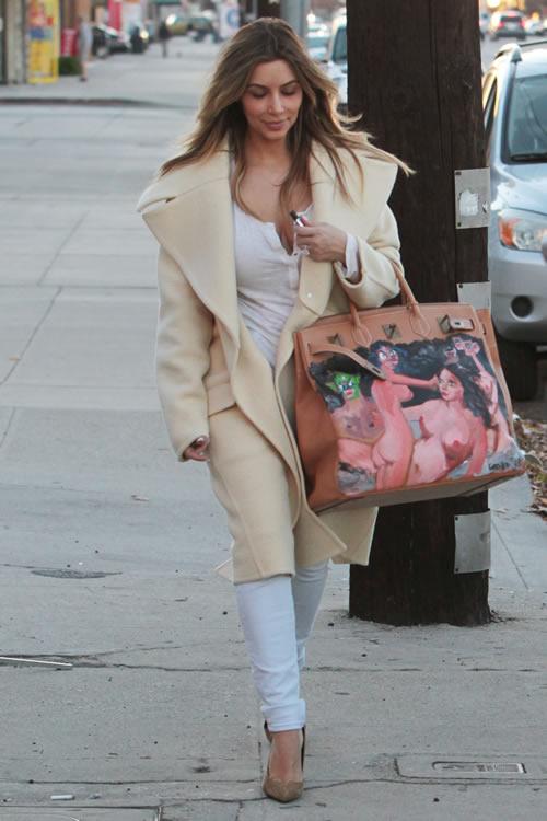 Kim Kardashian Painted Hermes Bag 5