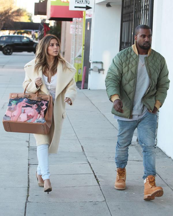 Kim Kardashian Painted Hermes Bag 6