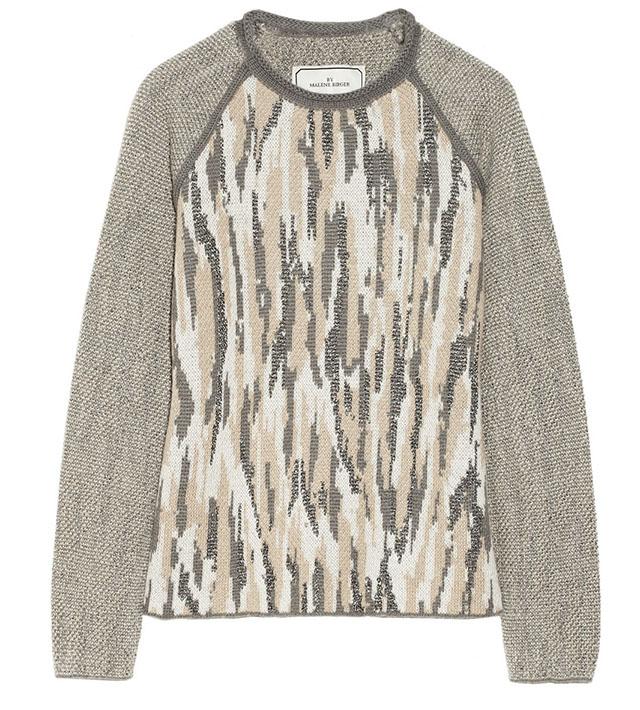 Malinkaa Metallic Jacquard-Knit Sweater