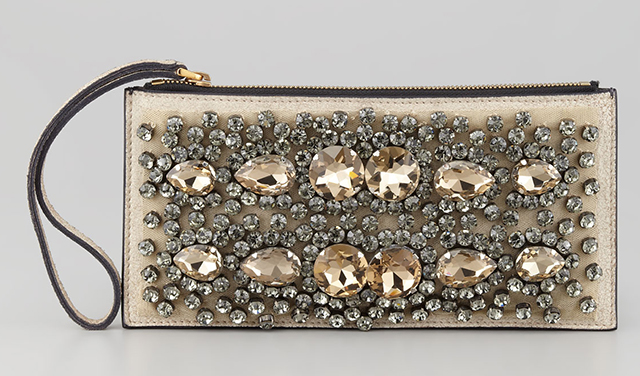 Marni Crystal Embroidered Wristlet Pochette