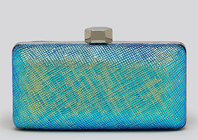 Milly Avril Iridescent Minaudiere Clutch