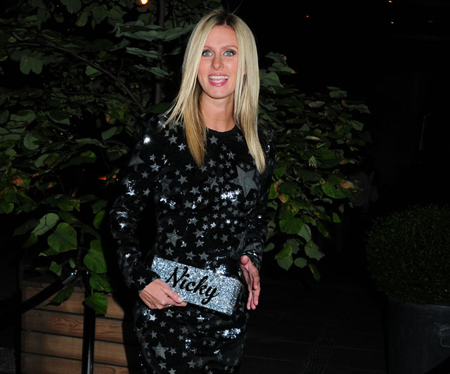 Nicky Hilton arrives at the screening of 'The Counselor'