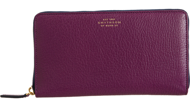 Smythson Chameleon Large Zip-Around Wallet