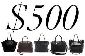5 Under $500: Black Work Bags