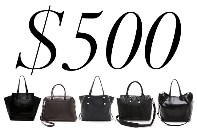 5 Under 500 Black Work Bags