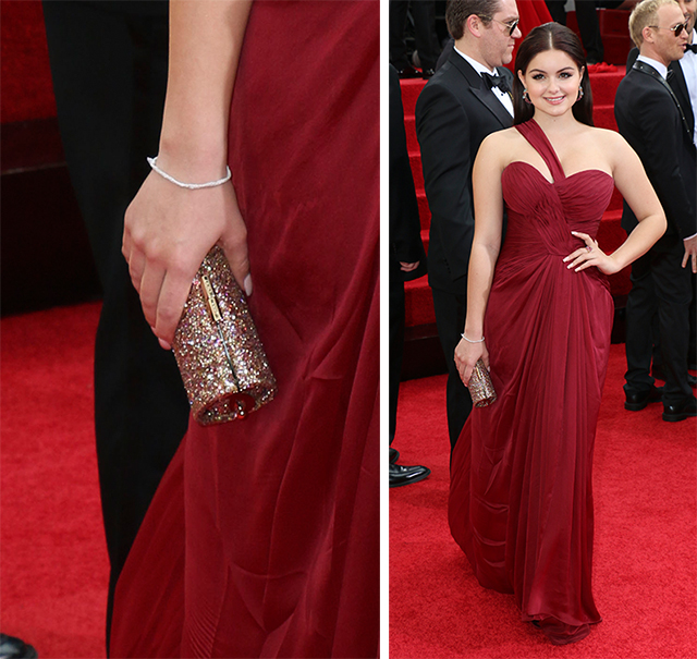 Ariel Winter Jimmy Choo Tube Clutch