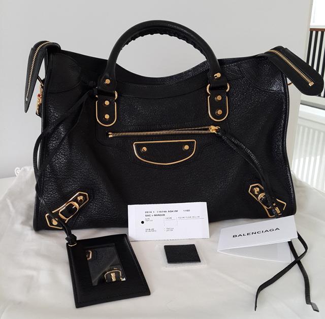 Balenciaga Black City Bag