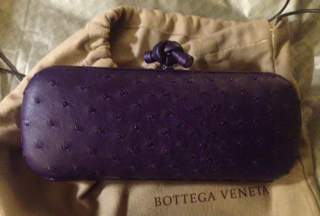 Bottega Veneta Ostrich Knot Clutch