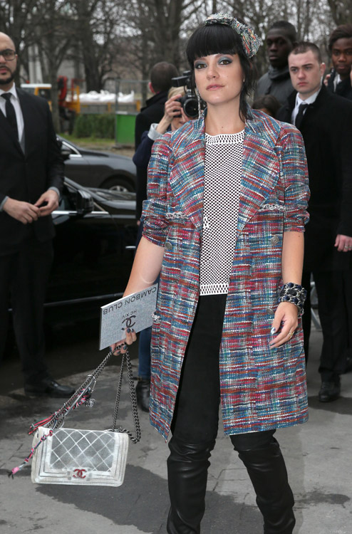 Celebrity Handbags at Paris Couture Week-9