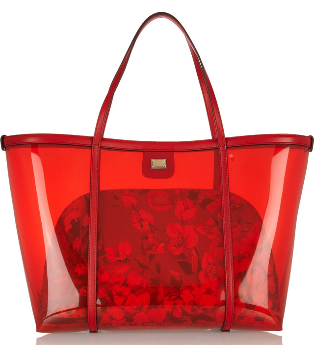Dolce & Gabbana Escape Leather Trimmed PVC Tote
