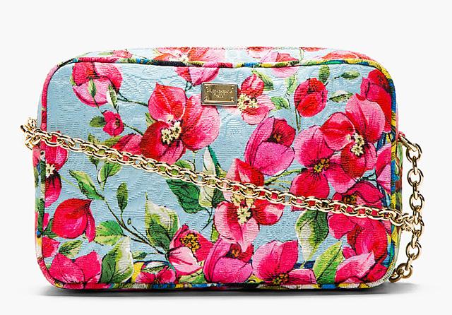 Dolce & Gabbana Pink Floral Print Shoulder Bag