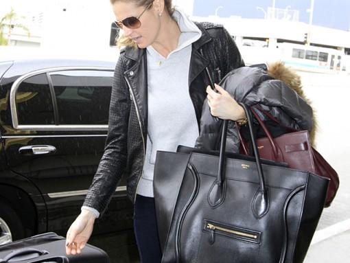 Erin Andrews Celine Luggage Tote Saint Laurent Sac de Jour Bag