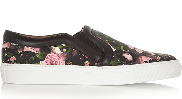 Givenchy Floral Slip On Sneakers