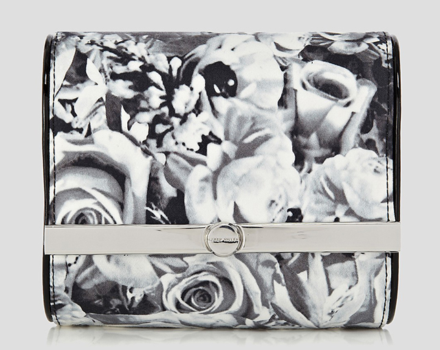 Karen Millen Dot Floral Print Clutch