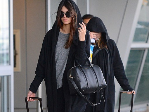 Kendall and Kyle Jenner Givenchy Lucrezia Bag Louis Vuitton Pegase Suitcases