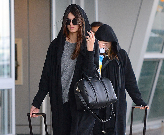 Kendall and Kyle Jenner Givenchy Lucrezia Bag Louis Vuitton Pegase Suitcases