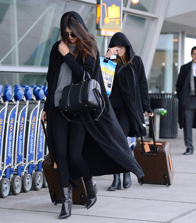 Kendall and Kylie Jenner Givenchy Lucrezia Louis Vuitton Pegase Suitcases-2
